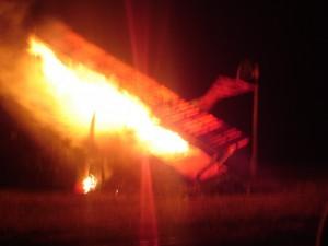 Avion en flamme