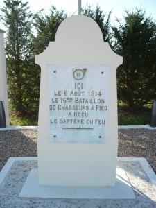 Le monument commémorant la Bataille du Trembloy, à la ferme du Trembloy.