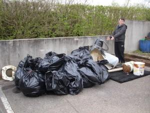 Le résultat de l'opération : des déchets en nette baisse. Ouf !!!!