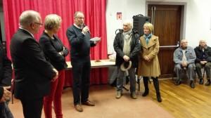 Citoyens hatriziens bien connus pour leurs multiples engagements, Rachel et André Freyermuth sont appelés pour la remise de la médaille d'honneur à André.