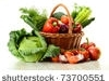 stock-photo-composition-with-raw-vegetables-and-wicker-basket-isolated-on-white-737005511